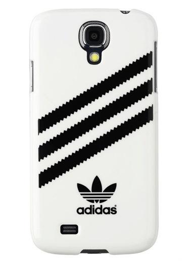 MobilCadde Adidas Samsung İ9500 Galaxy S4 Beyaz Rubber Kılıf Beyaz